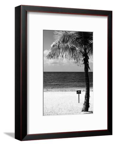 Miami Sign on the Beach - Florida-Philippe Hugonnard-Framed Art Print