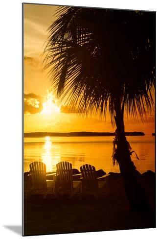 Three Chairs at Sunset - Florida-Philippe Hugonnard-Mounted Photographic Print