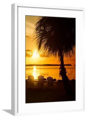 Three Chairs at Sunset - Florida-Philippe Hugonnard-Framed Art Print