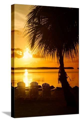 Three Chairs at Sunset - Florida-Philippe Hugonnard-Stretched Canvas Print