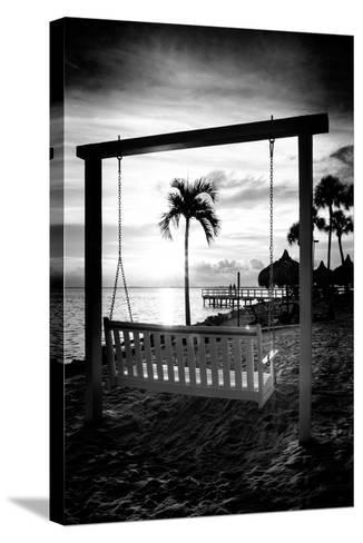 Swing Beach at Sunset-Philippe Hugonnard-Stretched Canvas Print