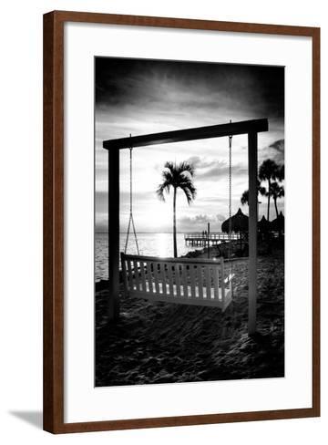 Swing Beach at Sunset-Philippe Hugonnard-Framed Art Print
