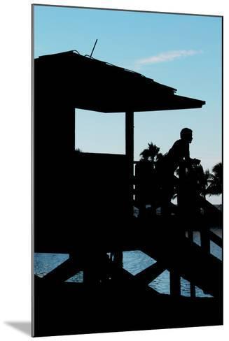 Life Guard Station at Sunset - Miami - Florida-Philippe Hugonnard-Mounted Photographic Print