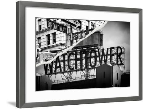 Dual Torn Posters Series - New York City-Philippe Hugonnard-Framed Art Print