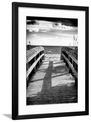 Boardwalk on the Beach at Sunset-Philippe Hugonnard-Framed Art Print