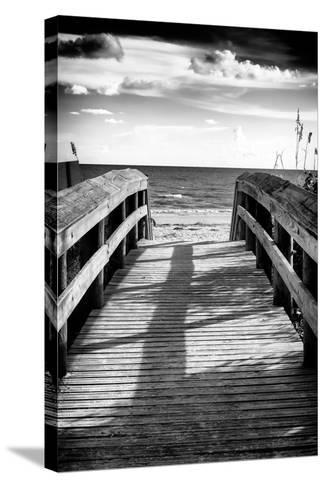 Boardwalk on the Beach at Sunset-Philippe Hugonnard-Stretched Canvas Print