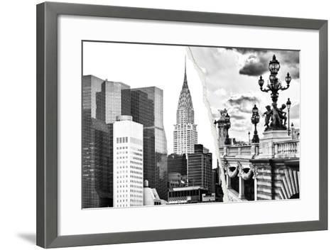 Dual Torn Posters Series - Paris - New York-Philippe Hugonnard-Framed Art Print