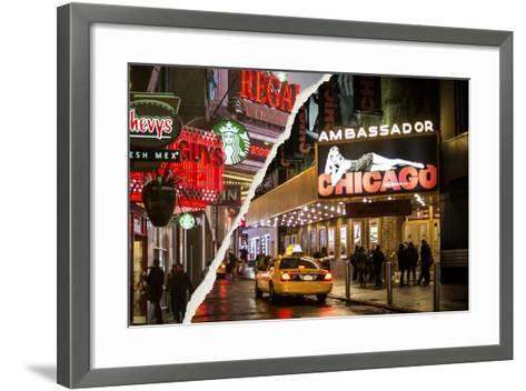 Dual Torn Posters Series - New York City-Philippe Hugonnard-Framed Art Print