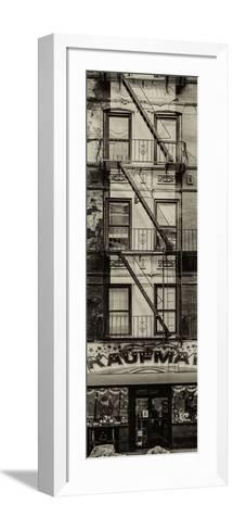 Door Posters - Old Red and White Facade in Times Square - Manhattan - New York - USA-Philippe Hugonnard-Framed Art Print