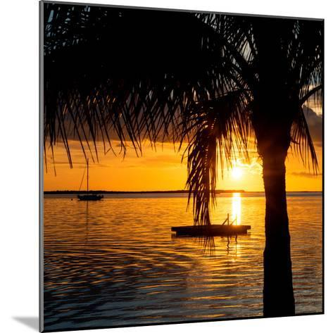 Sunset Landscape with Yacht and Floating Platform - Miami - Florida-Philippe Hugonnard-Mounted Photographic Print