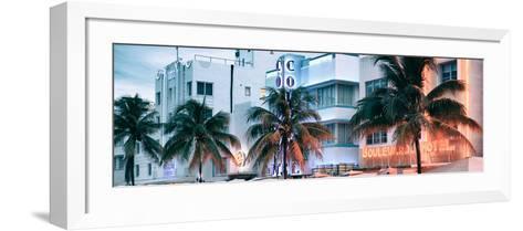 Colorful Ocean Drive - South Beach - Miami Beach Art Deco Distric - Florida-Philippe Hugonnard-Framed Art Print