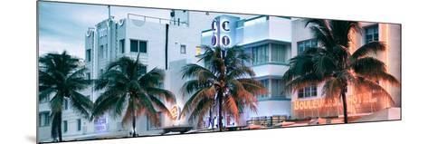 Colorful Ocean Drive - South Beach - Miami Beach Art Deco Distric - Florida-Philippe Hugonnard-Mounted Photographic Print
