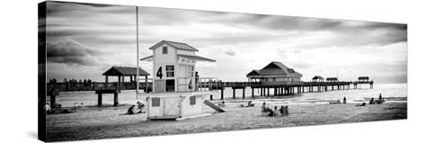 Life Guard Station - Florida Beach-Philippe Hugonnard-Stretched Canvas Print