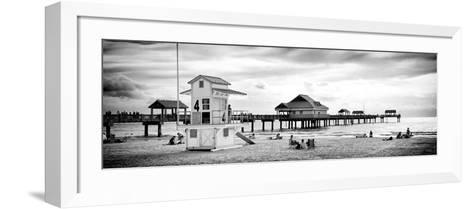 Life Guard Station - Florida Beach-Philippe Hugonnard-Framed Art Print