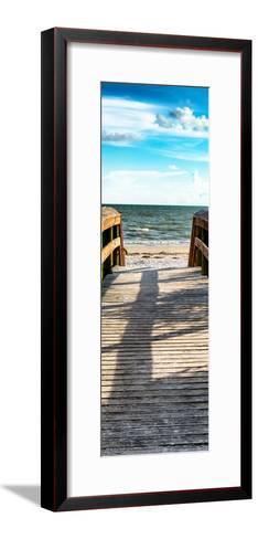 Boardwalk on the Beach at Sunset-Philippe Hugonnard-Framed Art Print