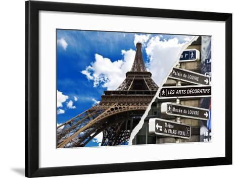 Dual Torn Posters Series - Paris - France-Philippe Hugonnard-Framed Art Print