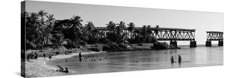 Old Bahia Honda Bridge Florida Keys - Bridges Roads-Philippe Hugonnard-Stretched Canvas Print