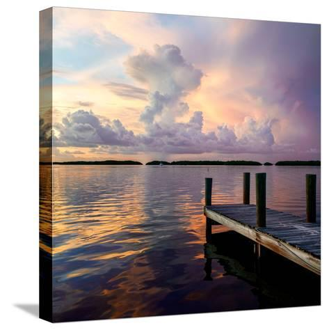 Wooden Jetty at Sunset-Philippe Hugonnard-Stretched Canvas Print