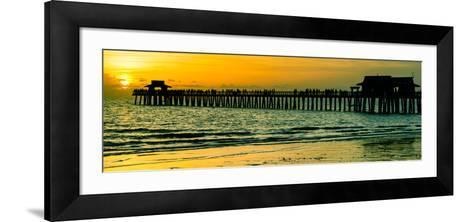 Naples Florida Pier at Sunset-Philippe Hugonnard-Framed Art Print