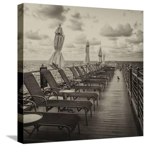 Pontoon with Deck Chairs - Key West - Florida-Philippe Hugonnard-Stretched Canvas Print