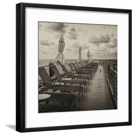 Pontoon with Deck Chairs - Key West - Florida-Philippe Hugonnard-Framed Art Print
