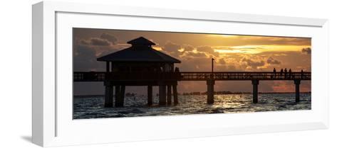 Fishing Pier Fort Myers Beach at Sunset-Philippe Hugonnard-Framed Art Print