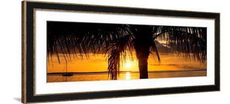 Sunset Landscape with Yacht - Miami - Florida-Philippe Hugonnard-Framed Art Print