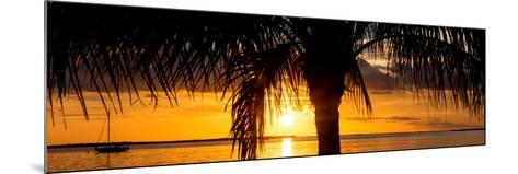 Sunset Landscape with Yacht - Miami - Florida-Philippe Hugonnard-Mounted Photographic Print