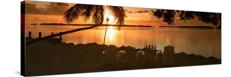 Four Chairs at Sunset - Florida-Philippe Hugonnard-Stretched Canvas Print