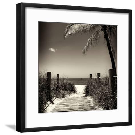 Boardwalk on the Beach - Florida-Philippe Hugonnard-Framed Art Print