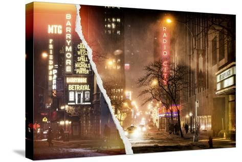 Dual Torn Posters Series - New York-Philippe Hugonnard-Stretched Canvas Print