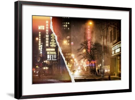 Dual Torn Posters Series - New York-Philippe Hugonnard-Framed Art Print