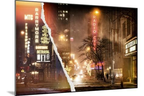 Dual Torn Posters Series - New York-Philippe Hugonnard-Mounted Photographic Print