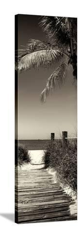 Boardwalk on the Beach - Florida-Philippe Hugonnard-Stretched Canvas Print