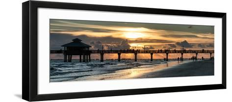 Fishing Pier Fort Myers Beach at Sunset-Philippe Hugonnard-Framed Art Print