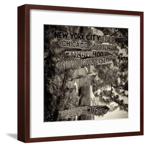 Destination Signs - Key West - Florida-Philippe Hugonnard-Framed Art Print