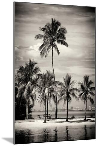Paradisiacal Beach overlooking Downtown Miami - Florida-Philippe Hugonnard-Mounted Photographic Print