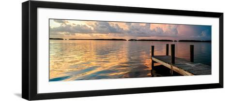 Wooden Jetty at Sunset-Philippe Hugonnard-Framed Art Print