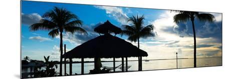 The Beach Hut at Sunset - Florida - USA-Philippe Hugonnard-Mounted Photographic Print
