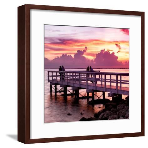 The Pier at Sunset Lovers-Philippe Hugonnard-Framed Art Print