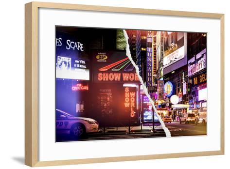 Dual Torn Posters Series - New York-Philippe Hugonnard-Framed Art Print