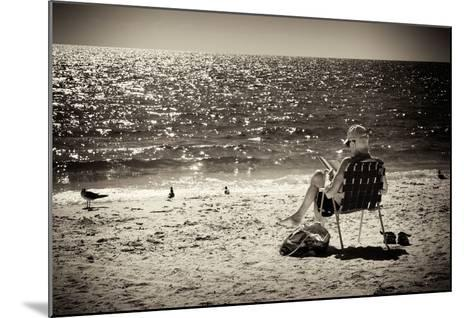 Solidary Reading by the Sea - Florida-Philippe Hugonnard-Mounted Photographic Print