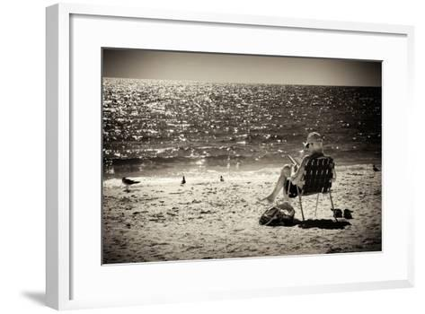 Solidary Reading by the Sea - Florida-Philippe Hugonnard-Framed Art Print