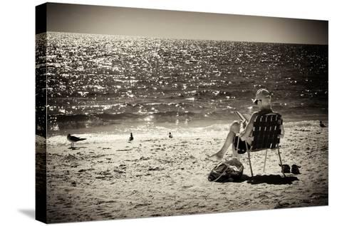 Solidary Reading by the Sea - Florida-Philippe Hugonnard-Stretched Canvas Print