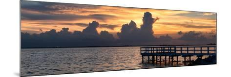 Wooden Landing Jetty at Sunset-Philippe Hugonnard-Mounted Photographic Print