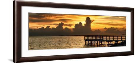 Wooden Landing Jetty at Sunset-Philippe Hugonnard-Framed Art Print