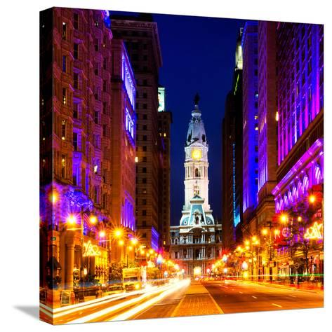 Philadelphia City-Philippe Hugonnard-Stretched Canvas Print