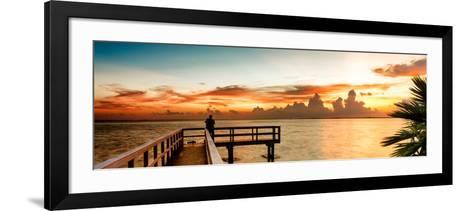 Pier at Sunset-Philippe Hugonnard-Framed Art Print