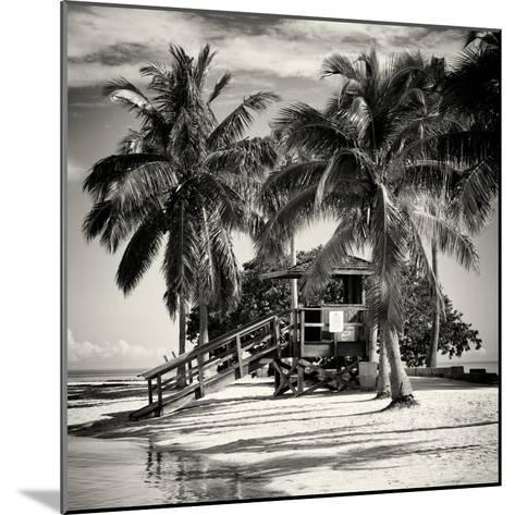 Paradisiacal Beach with a Life Guard Station - Miami - Florida-Philippe Hugonnard-Mounted Photographic Print