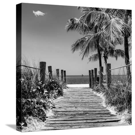 Boardwalk on the Beach - Key West - Florida-Philippe Hugonnard-Stretched Canvas Print